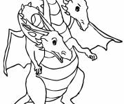 Free coloring and drawings Two headed dragon Coloring page