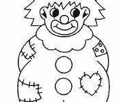 Free coloring and drawings A big clown Coloring page