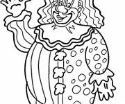 Coloring pages A big clown greets you