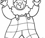 Coloring pages A big clown with balls in his hands