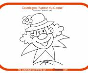Coloring pages A clown in a flowered hat