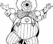Coloring pages A clown performing