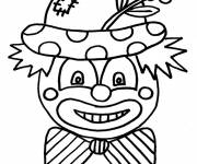 Coloring pages A clown wears a flower on his hat