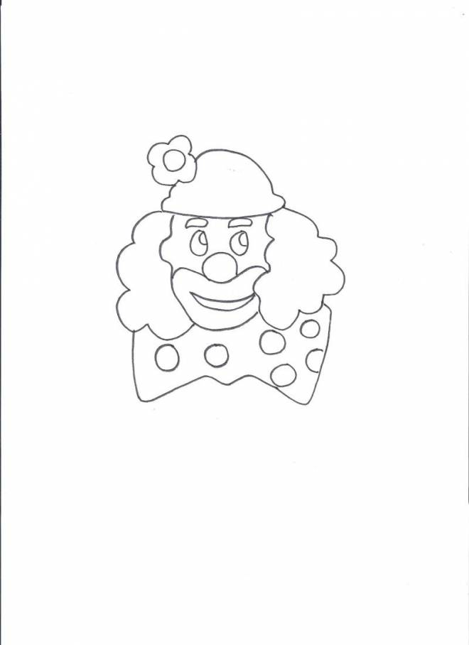 Free coloring and drawings A clown with a big bow Coloring page