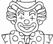 Coloring pages A clown with closed eyes