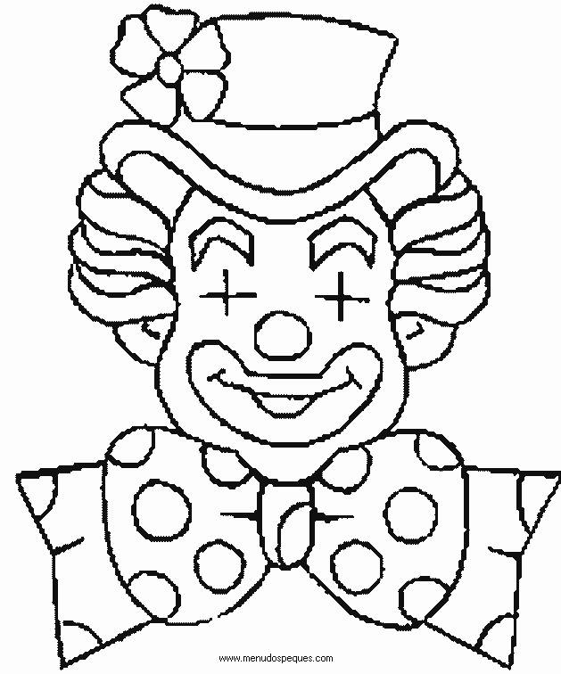 Free coloring and drawings A clown with closed eyes Coloring page
