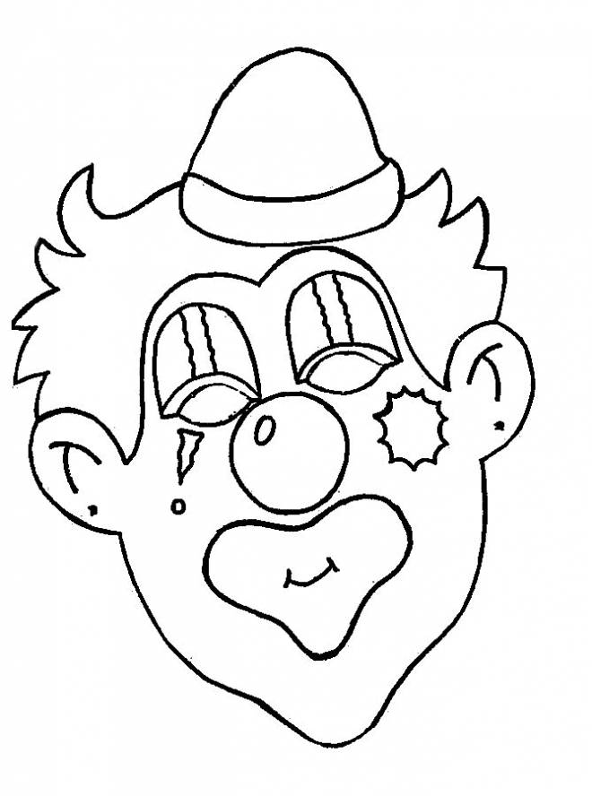 Free coloring and drawings a clown with makeup Coloring page