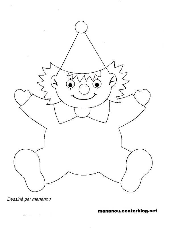 Free coloring and drawings A little clown Coloring page
