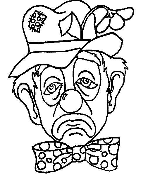 Free coloring and drawings A sad clown Coloring page