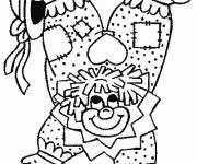 Coloring pages An acrobat clown balancing on his hands