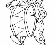 Coloring pages Clown and drum