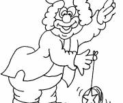 Coloring pages Clown and YoYo