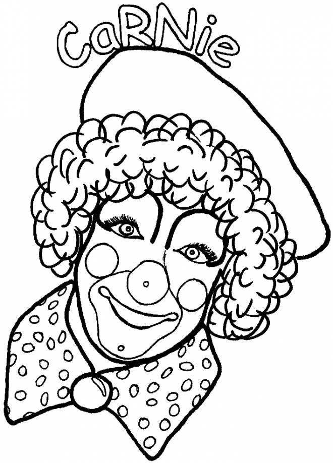 Free coloring and drawings Clown Carnie Coloring page