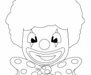 Coloring pages Clown wears a wig