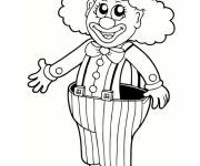 Coloring pages Clown with big pants