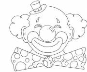 Coloring pages Clown with round head