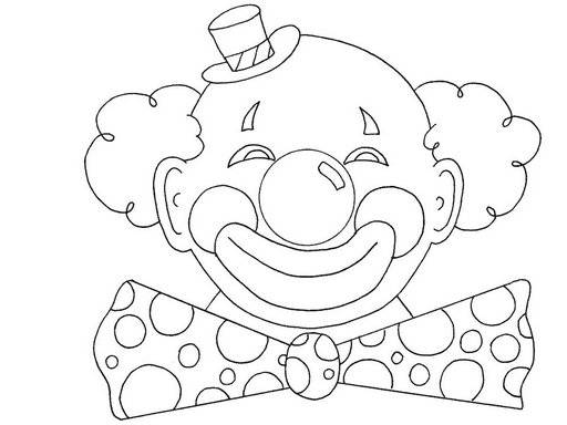 Free coloring and drawings Clown with round head Coloring page