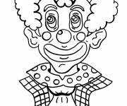 Coloring pages Clown with spectacular makeup