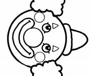 Coloring pages Funny clown head