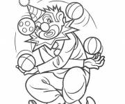 Coloring pages The clown juggles with several balls