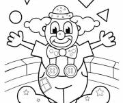 Coloring pages The clown performs