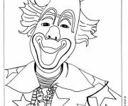Coloring pages The clown with a small hat