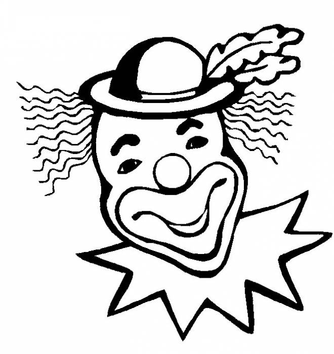 Free coloring and drawings The long haired clown Coloring page
