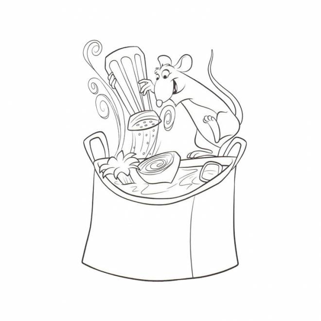 Free coloring and drawings a cook smiling Coloring page