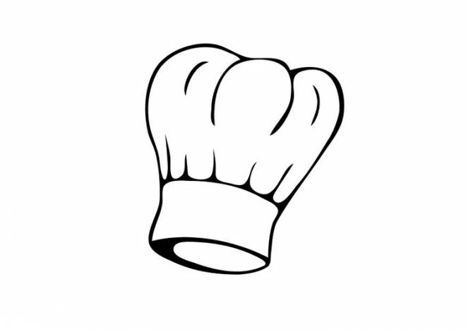 Free coloring and drawings Chef pastry chef's hat Coloring page