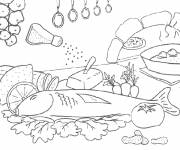 Coloring pages Chef's meal