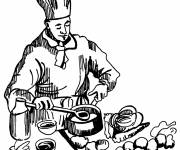 Coloring pages Color cook
