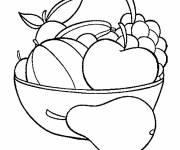 Coloring pages Color drawing fruits
