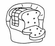 Coloring pages Colored bread