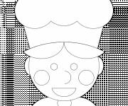 Coloring pages Cook and chef hat