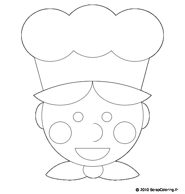Free coloring and drawings Cook and chef hat Coloring page