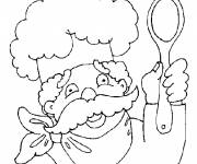 Coloring pages Cook and spoon
