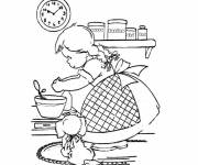 Free coloring and drawings Cook girl Coloring page