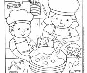 Coloring pages Cooking experience