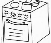 Coloring pages Cooking gas