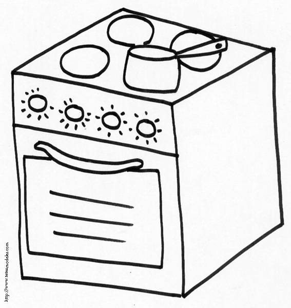 Free coloring and drawings Cooking gas Coloring page
