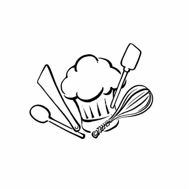 Free coloring and drawings Cooking tools Coloring page