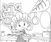 Coloring pages Cute cooker