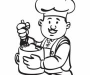 Coloring pages Drawing of Chef online
