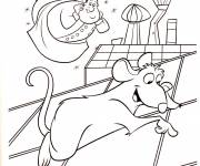 Coloring pages Funny cook and mouse