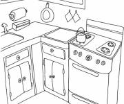 Coloring pages Home cooking