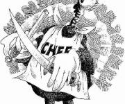 Coloring pages Humor chef