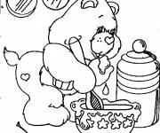 Free coloring and drawings Kitchen care Coloring page