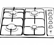 Coloring pages Kitchen gas drawing