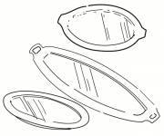 Coloring pages Kitchen tray