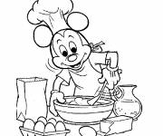 Coloring pages Mickey Mouse Cook